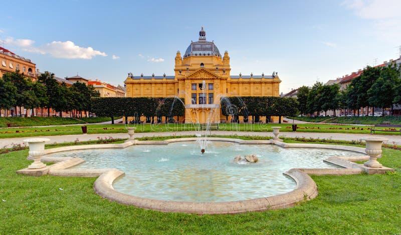 Konstpavillion i Zagreb. Kroatien arkivfoto