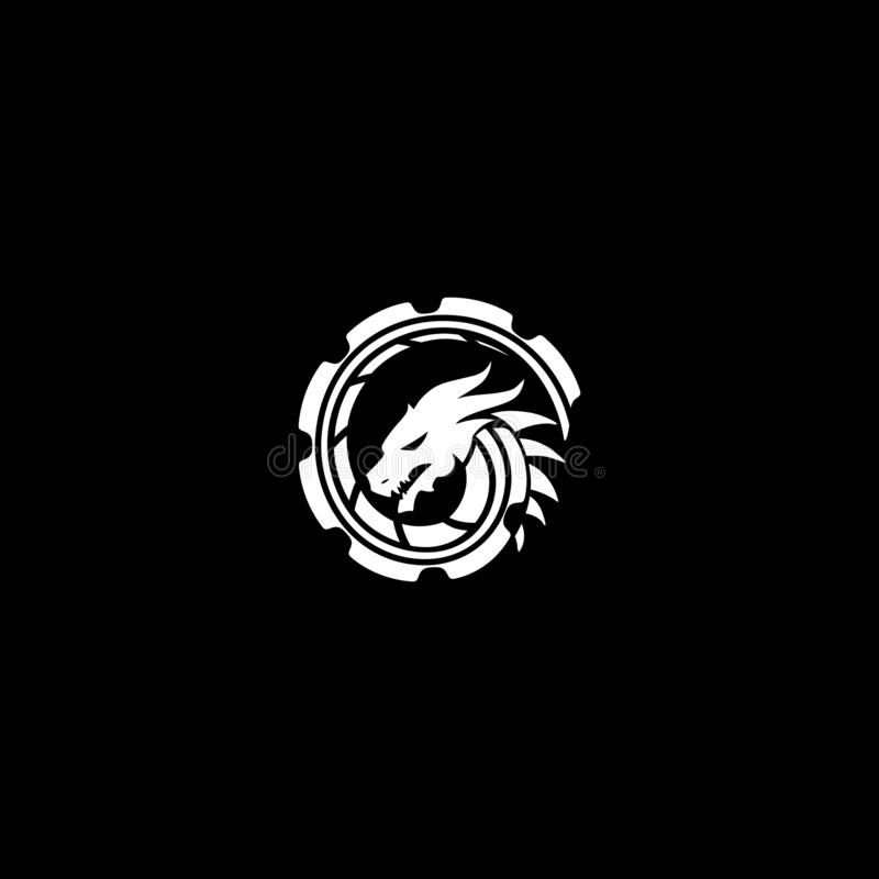 Konstrukcja logo Smoka obraz royalty free