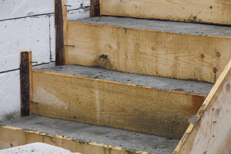 Konstrukcja schodów betonowych fotografia royalty free