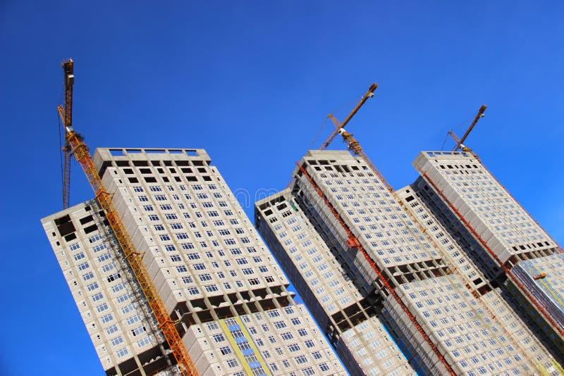 Konstruktion av bostads- byggnader fotografering för bildbyråer