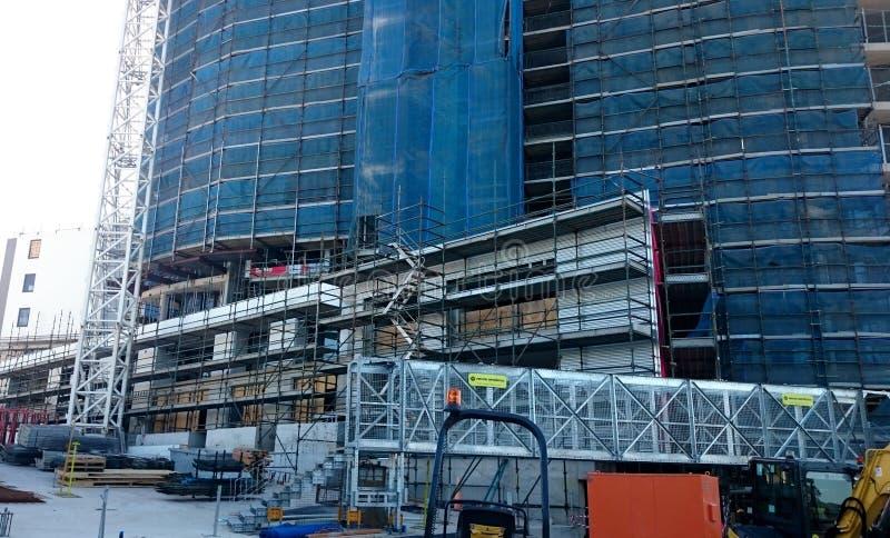 Konstruktion av bostads- byggnader royaltyfria foton