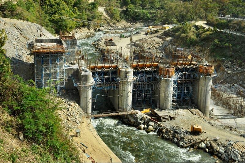 Konstruktion av Hydrokraftverk arkivfoto
