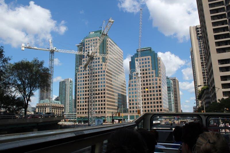 Konstruktion av moderna byggnader, Toronto arkivfoton