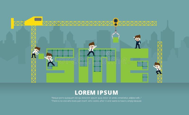 Konstruktion av SME arkivfoto