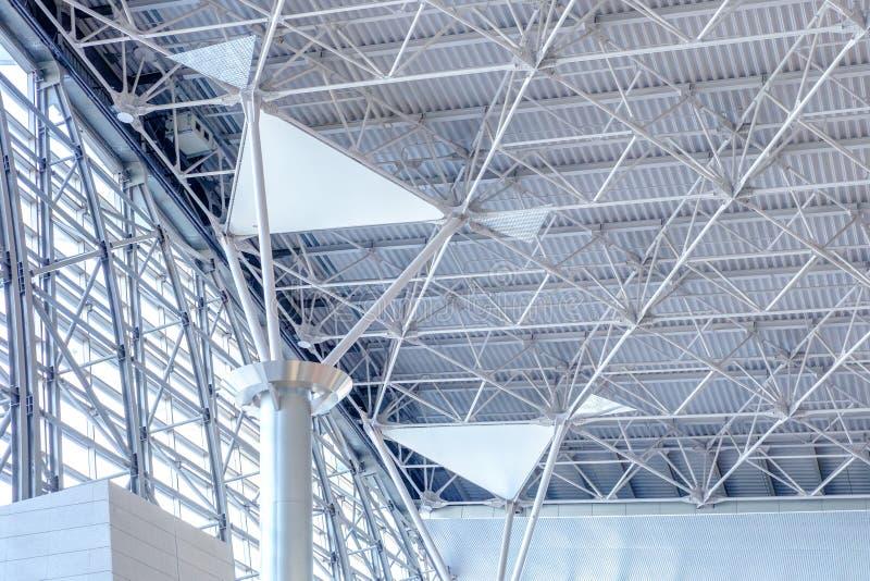 Konstruktion för modell för struktur för metall för arkitekturdetalj modern arkivfoton
