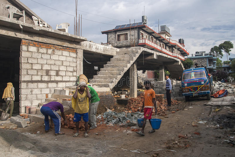 Konstruktion i stilen av nepalesiskt fotografering för bildbyråer