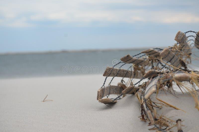 Konstruktion på stranden royaltyfri bild