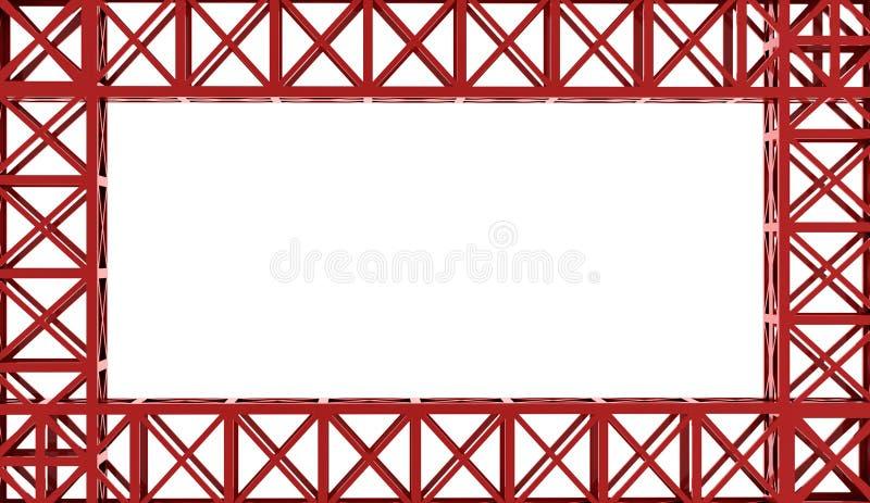 Konstruktion som framförs på vit bakgrund stock illustrationer