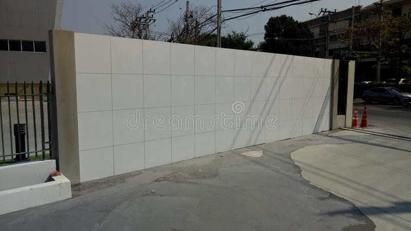 konstruktion under väggen royaltyfri fotografi