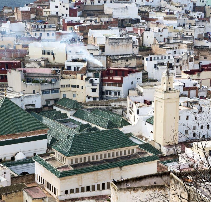 konstruktioner från höjdpunkt i byn Marocko africa f arkivbild