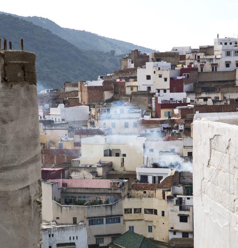 Konstruktioner från höjdpunkt i byn Marocko africa f royaltyfria foton