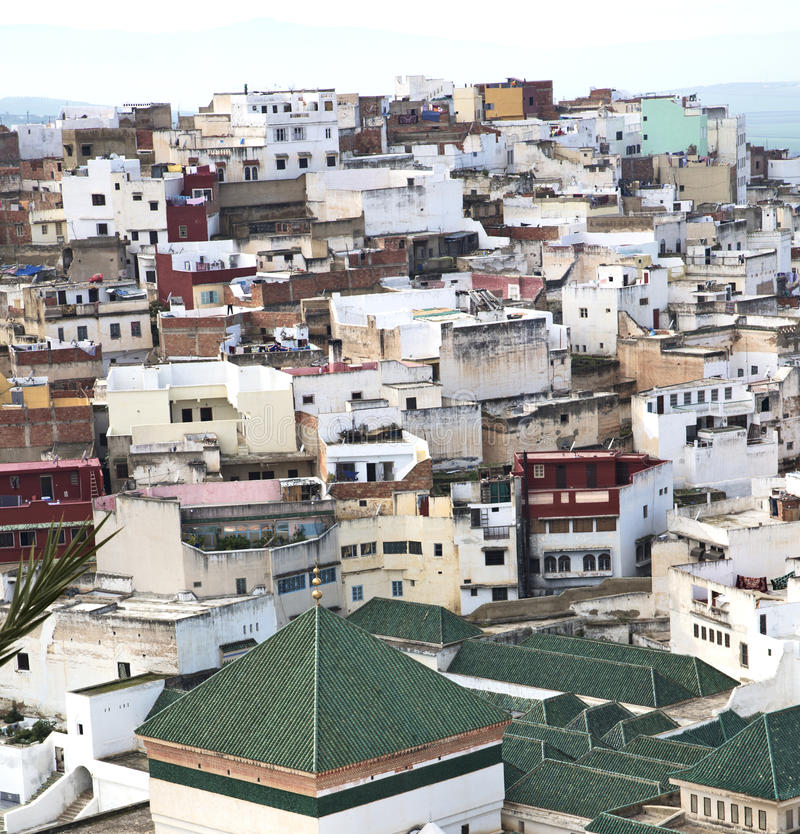 Konstruktioner från höjdpunkt i byn Marocko africa f fotografering för bildbyråer