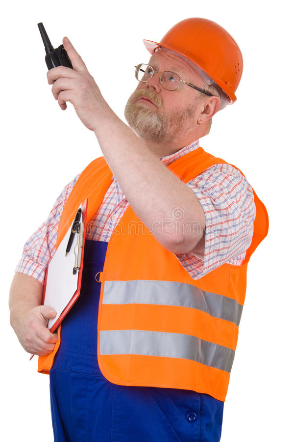 konstruktionsarbetsledare fotografering för bildbyråer