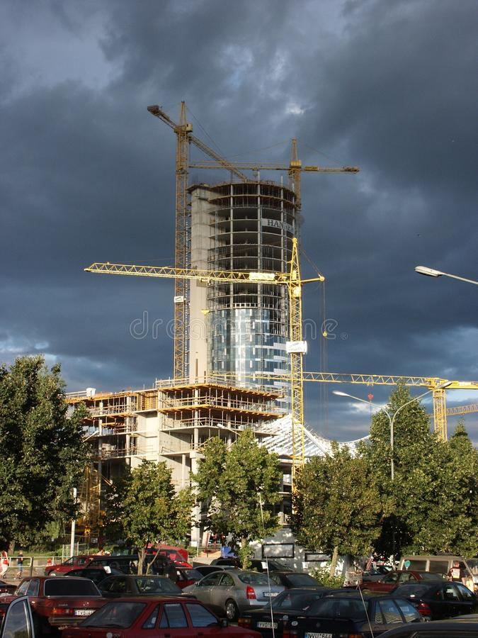 konstruktionseuropatorn royaltyfri fotografi