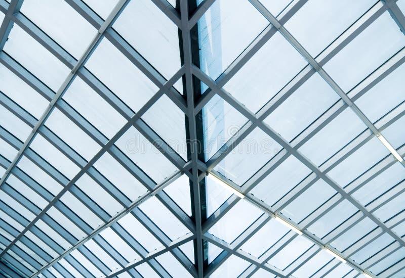 konstruktionsexponeringsglasmetall arkivbilder