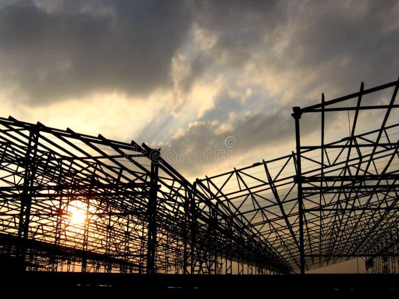 konstruktionsfabrik fotografering för bildbyråer