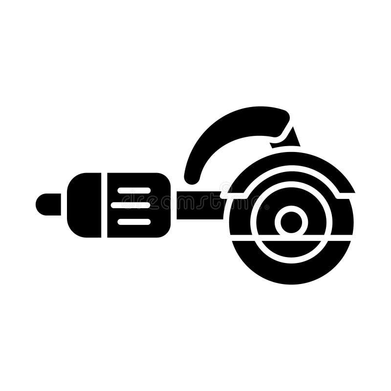 Konstruktionshjälpmedel - figursågskäraresymbol, vektorillustration, svart tecken royaltyfri illustrationer