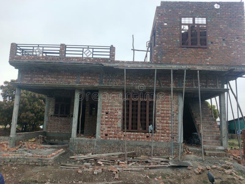 konstruktionshus under royaltyfria foton