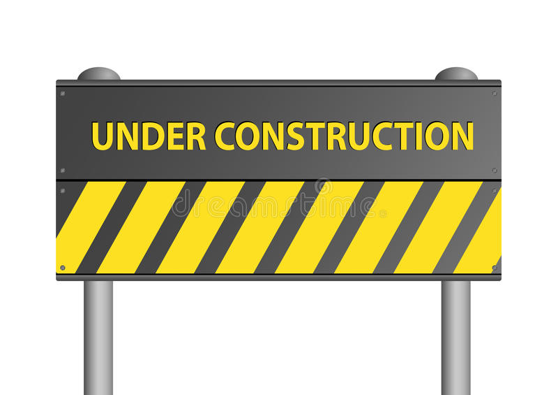 konstruktionsillustrationtecken under royaltyfri illustrationer
