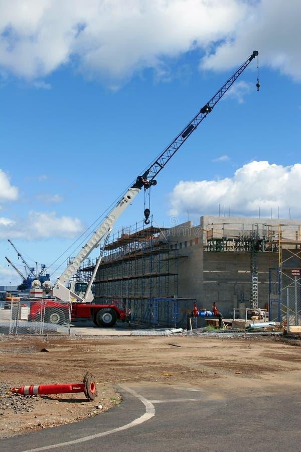 konstruktionskranscaffolds royaltyfri bild