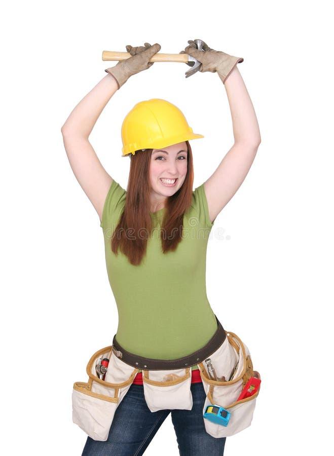 konstruktionskvinna arkivfoton