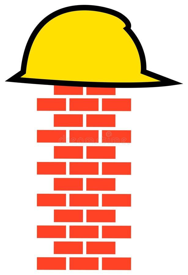 konstruktionslogo stock illustrationer