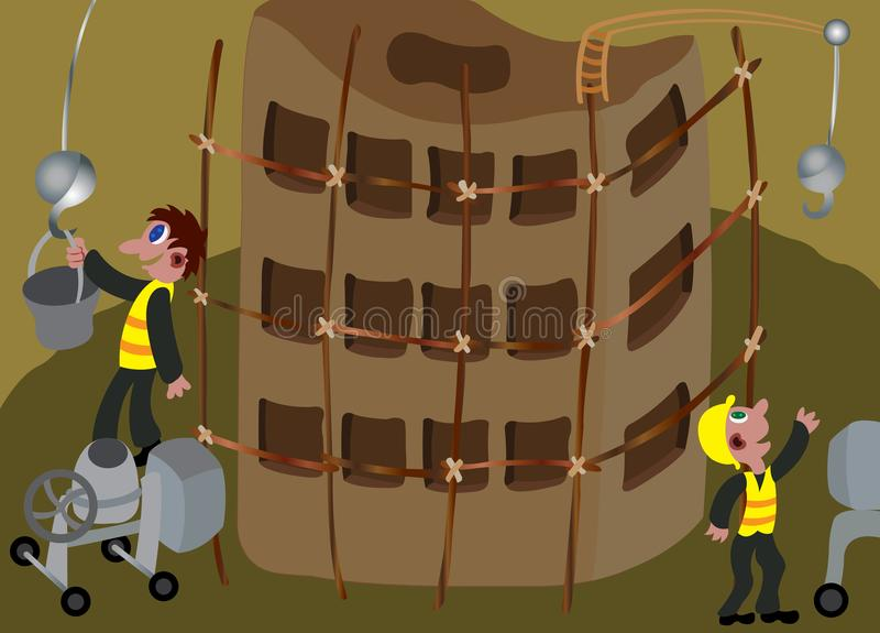 1 konstruktionslokal royaltyfri illustrationer