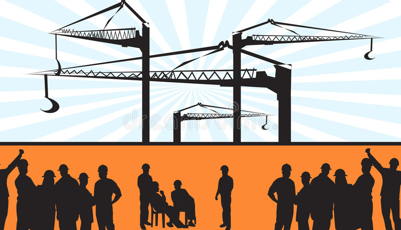 konstruktionslokal stock illustrationer