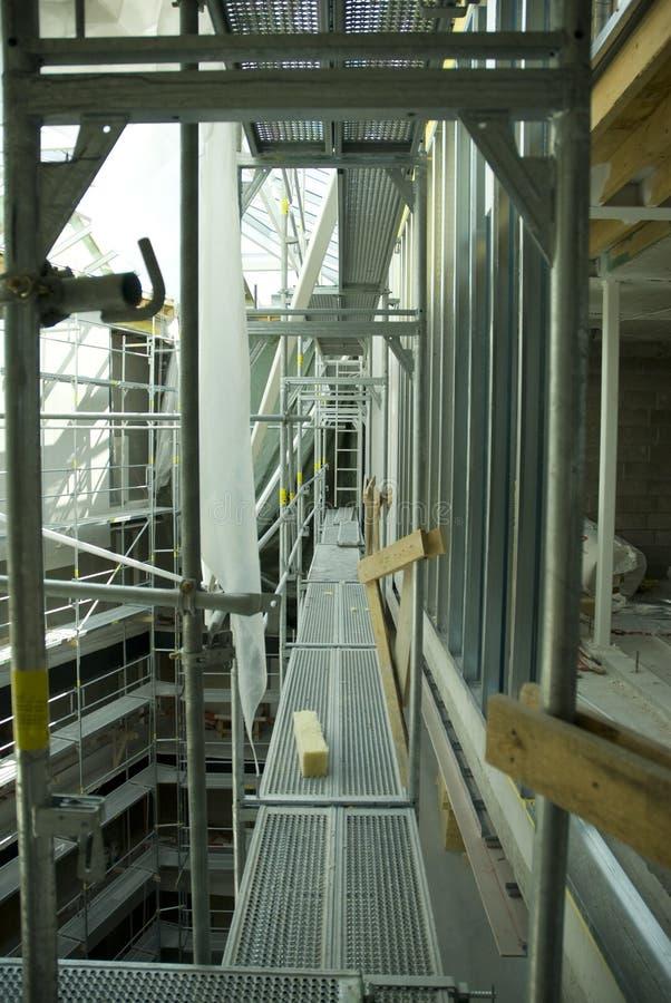 konstruktionsmaterial till byggnadsställning si fotografering för bildbyråer