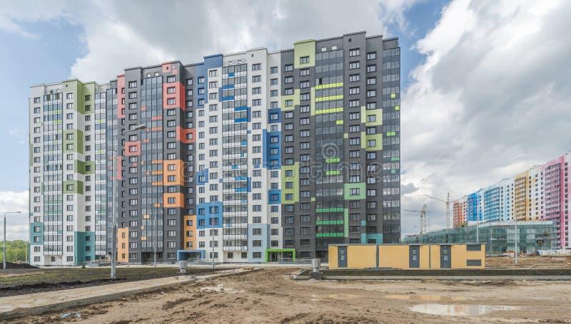Konstruktionsnybyggen i Moskva royaltyfri fotografi