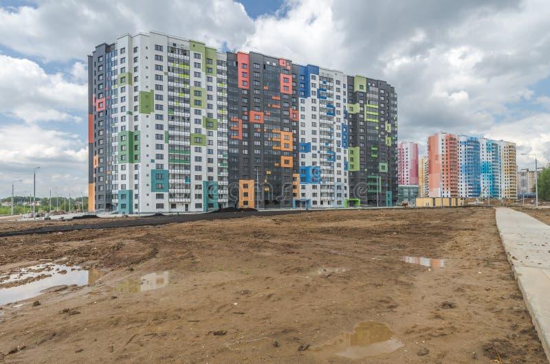 Konstruktionsnybyggen i Moskva royaltyfri foto