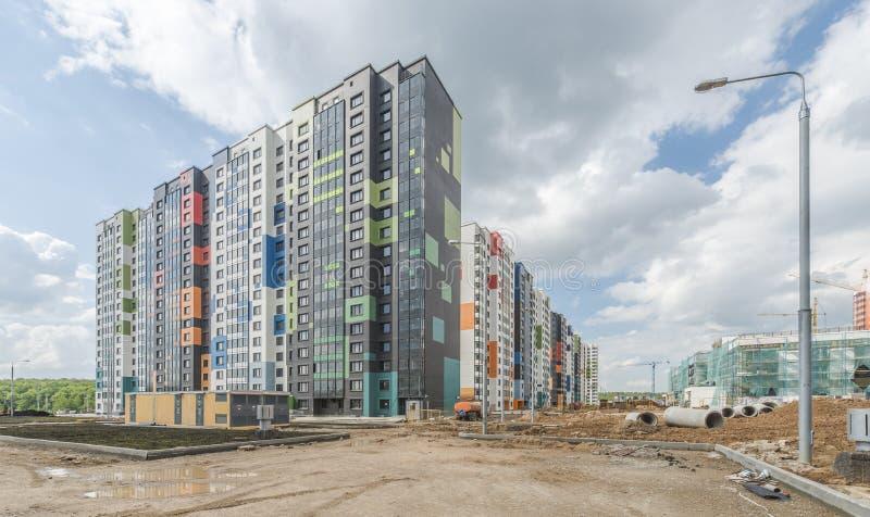 Konstruktionsnybyggen i Moskva arkivfoton