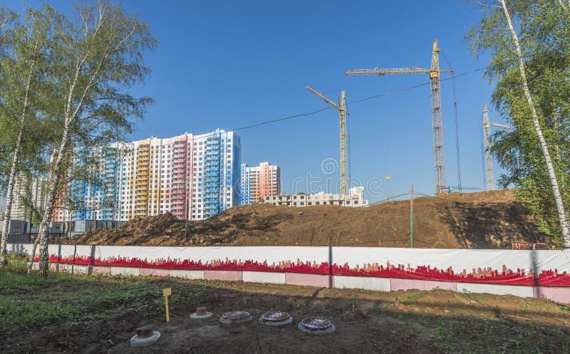 Konstruktionsnybyggen i Moskva arkivbild