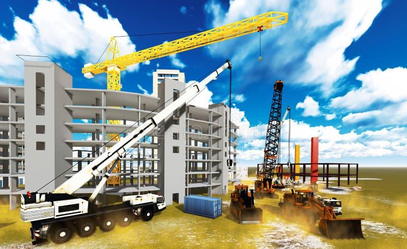 Konstruktionsplats stock illustrationer