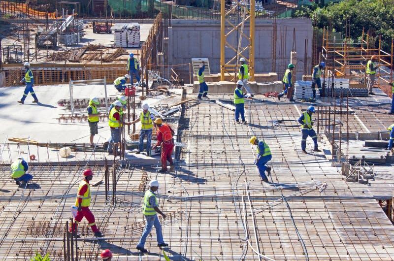 Konstruktionsplats på Umhlanga Ridge Durban South Africa arkivbilder
