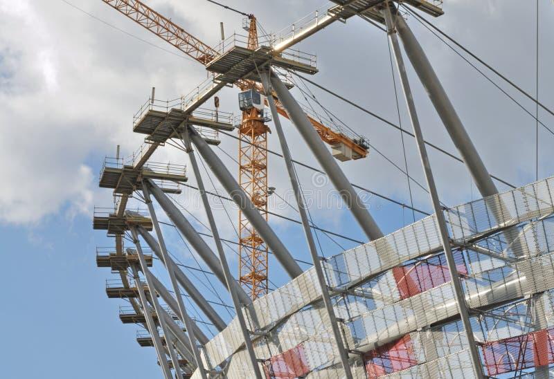 konstruktionsstadion under royaltyfria foton