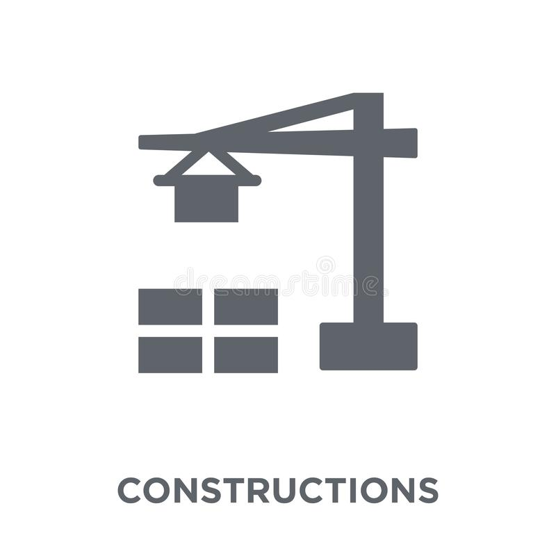 Konstruktionssymbol från samling stock illustrationer