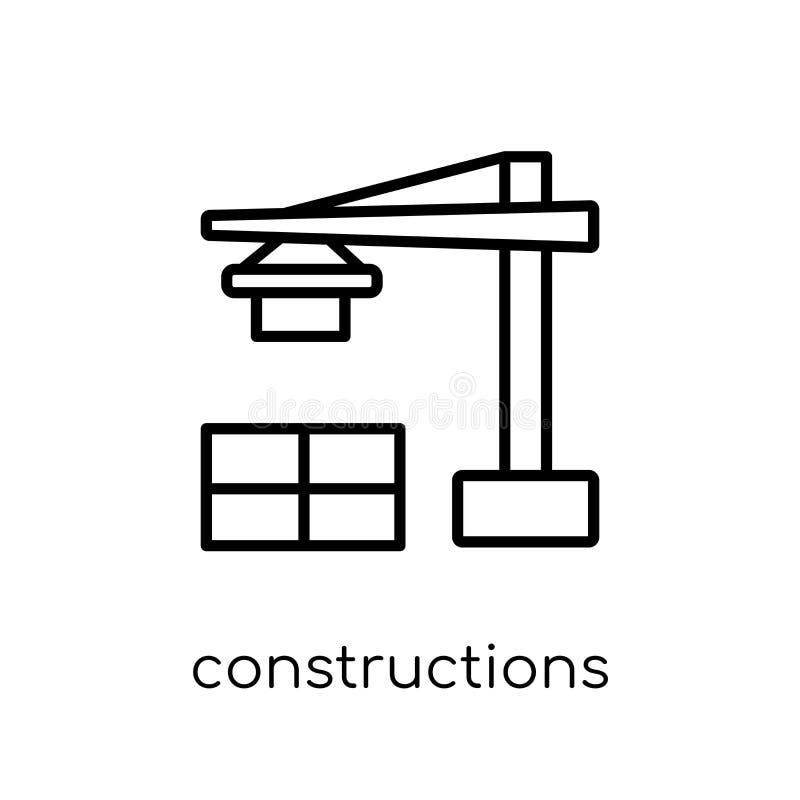 Konstruktionssymbol från samling royaltyfri illustrationer