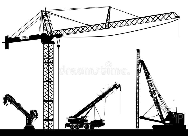 konstruktionsvektor vektor illustrationer