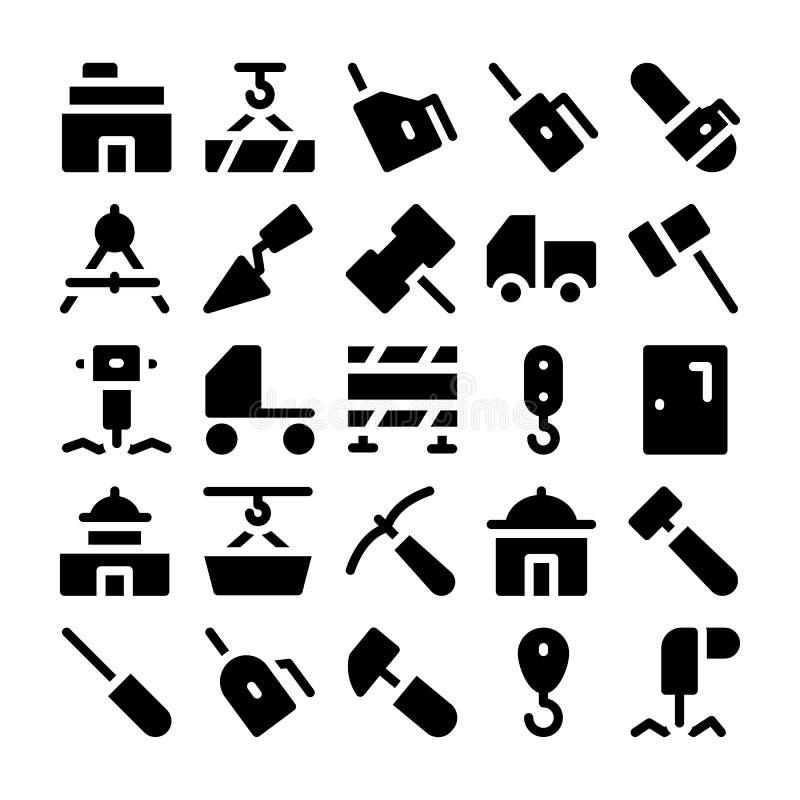 Konstruktionsvektorsymboler 7 stock illustrationer