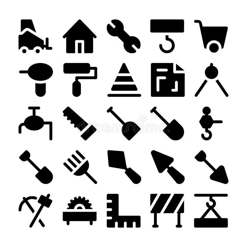 Konstruktionsvektorsymboler 2 royaltyfri illustrationer