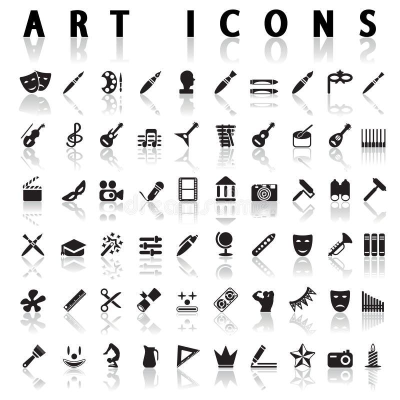 Konstsymboler vektor illustrationer