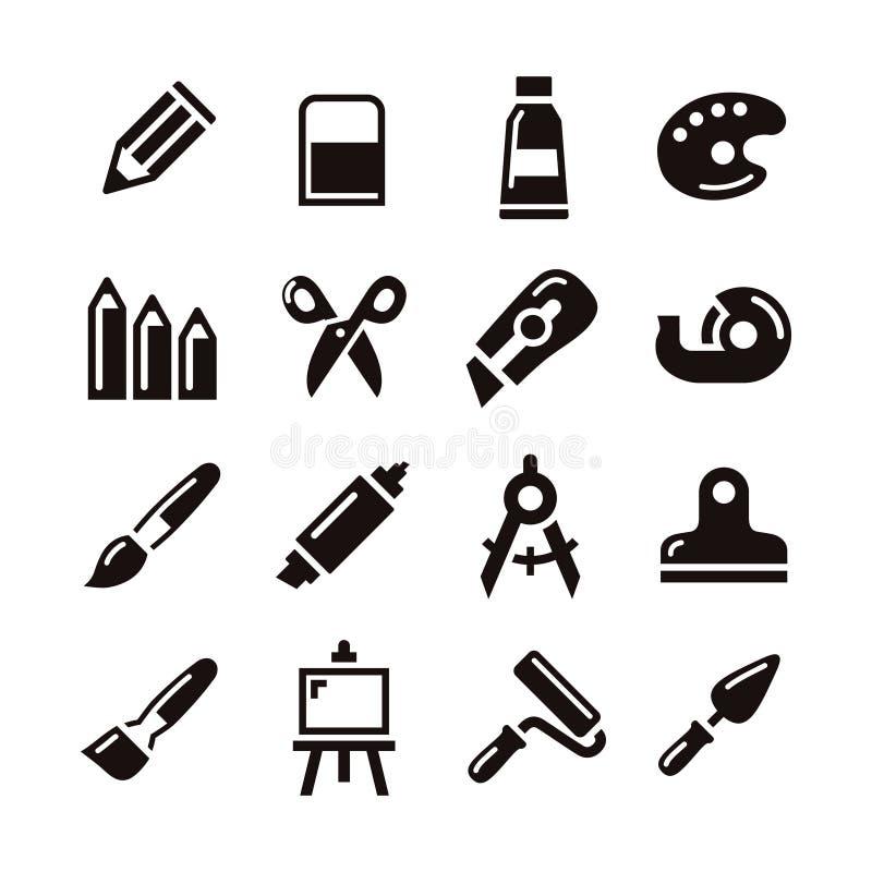 Konsttillförselsymbol vektor illustrationer
