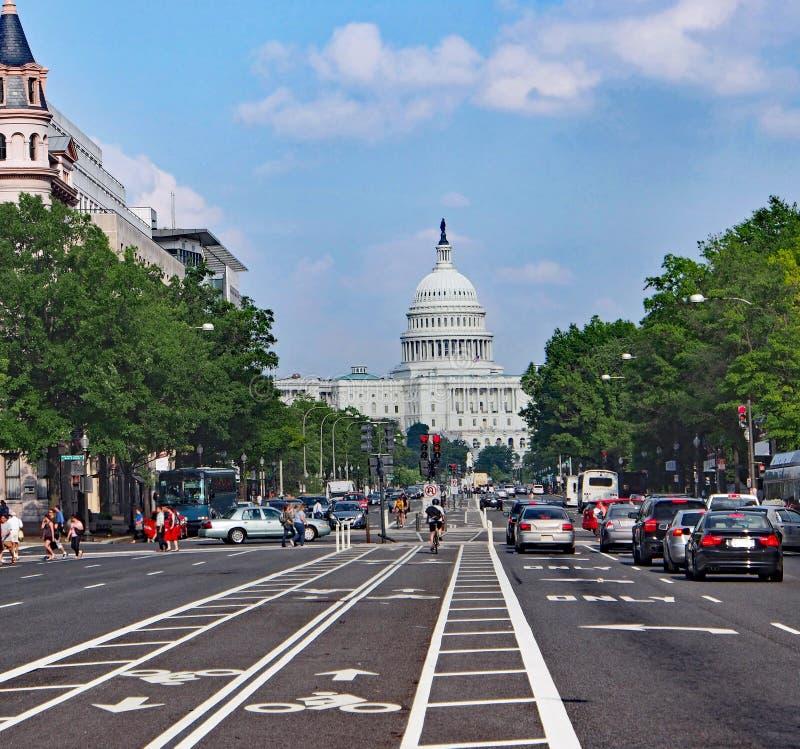 Konstytuci aleja w Waszyngton obraz royalty free
