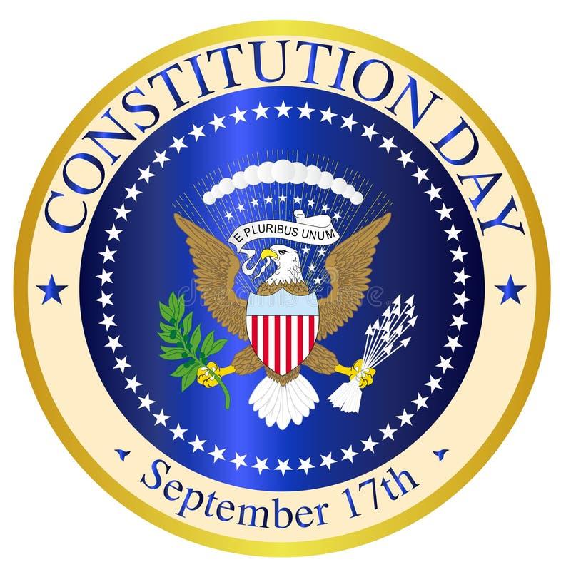 Konstytucja dnia foka ilustracja wektor