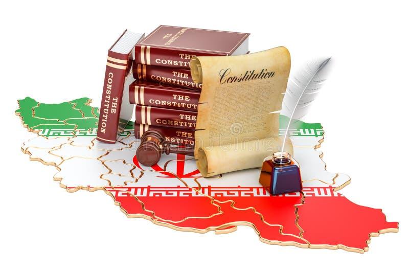 Konstytucja Iran pojęcie, 3D rendering royalty ilustracja