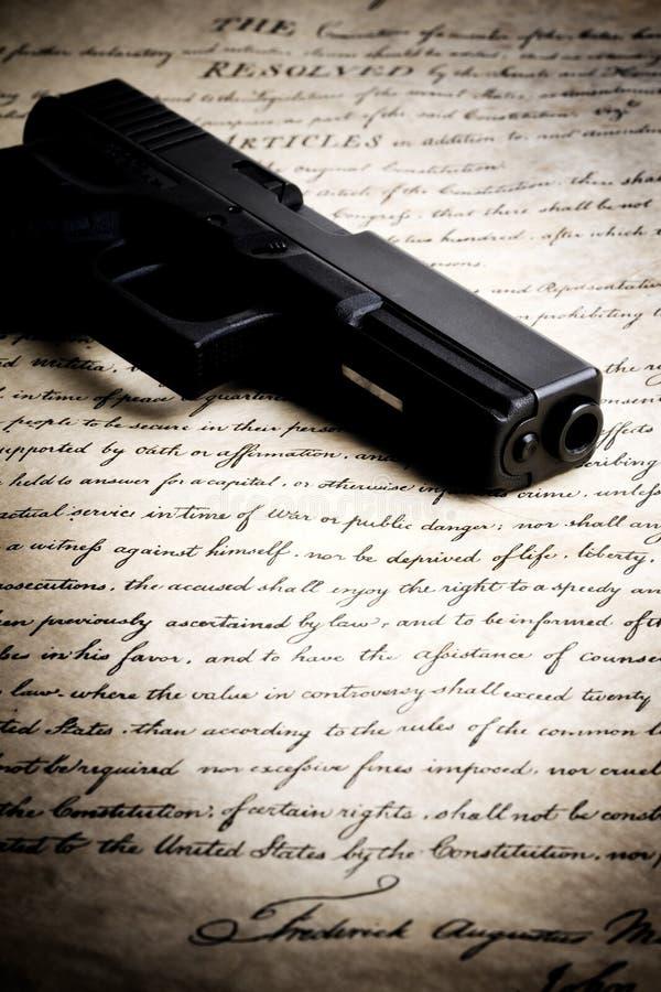 konstytucja pistolet obraz royalty free
