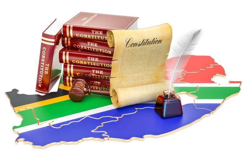 Konstytucja Południowa Afryka pojęcie, 3D rendering ilustracja wektor