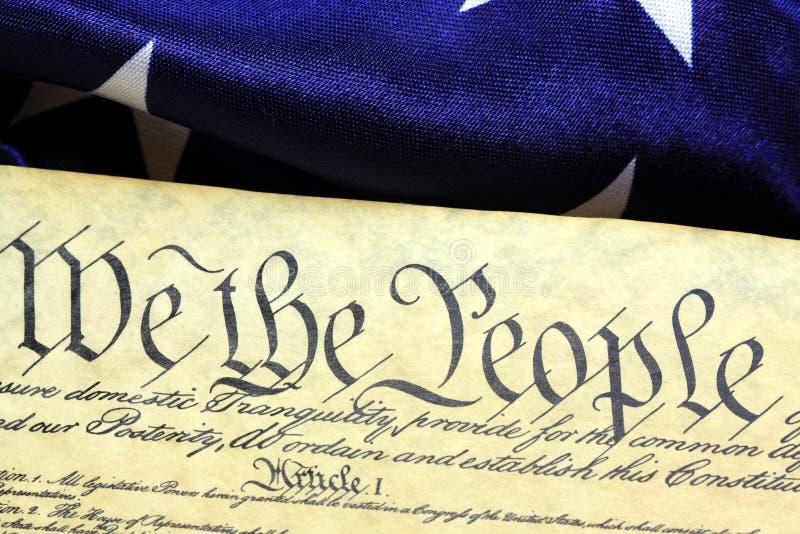 Konstytucja Stany Zjednoczone - My ludzie zdjęcie royalty free