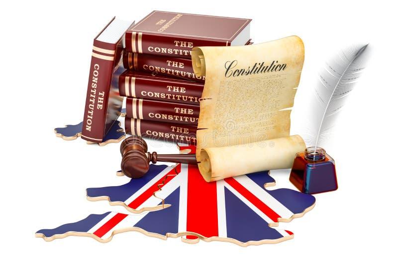 Konstytucja Zjednoczone Królestwo pojęcie, 3D rendering ilustracji